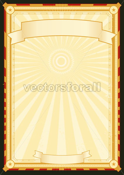Royal Palace Menu Poster - Vectorsforall