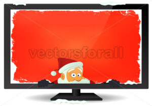 Santa Message Inside TV Background - Vectorsforall