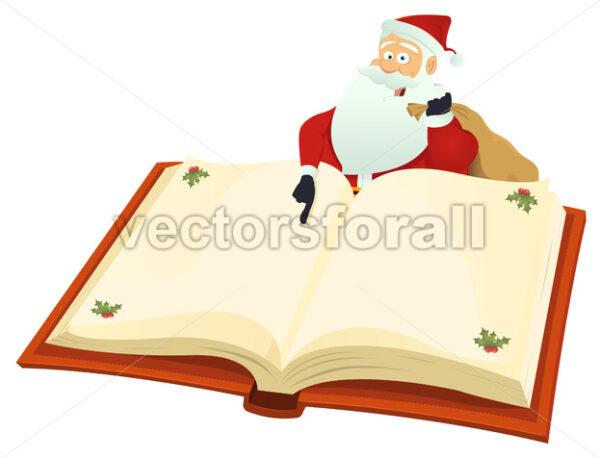 Santa Pointing Book - Vectorsforall
