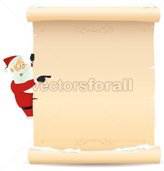 Santa Pointing Christmas List - Benchart's Shop
