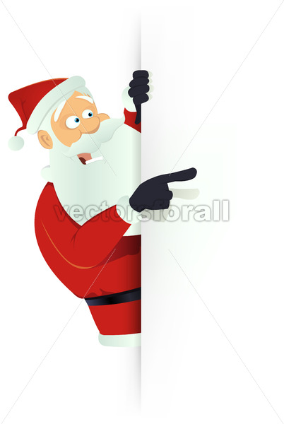 Santa Pointing White Blank Sign - Benchart's Shop