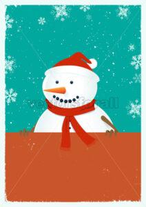 Santa Snowman - Benchart's Shop