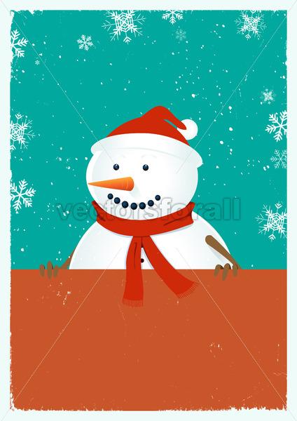 Santa Snowman - Vectorsforall