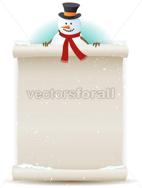 Santa Snowman Background - Vectorsforall
