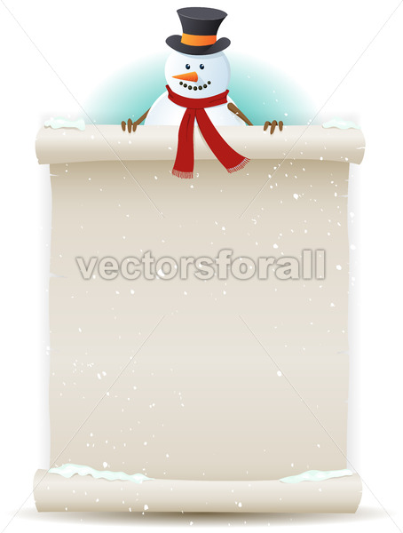 Santa Snowman Background - Vectorsforall