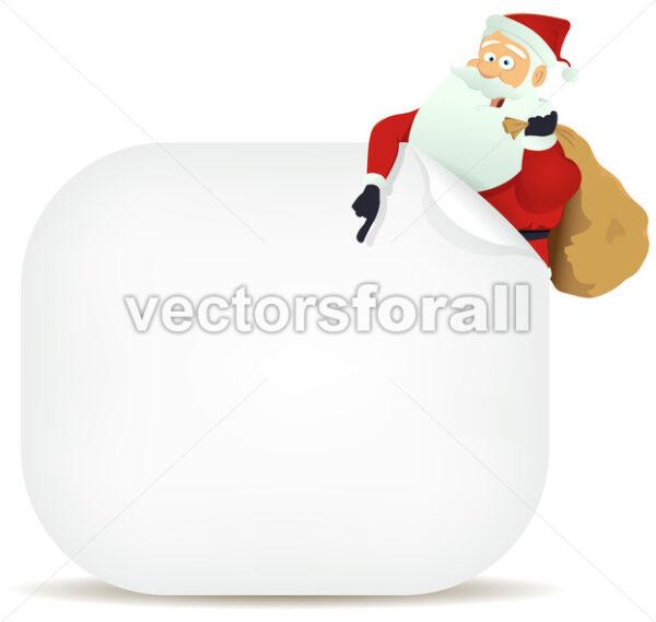 Santa's Pointing Blank Sign - Vectorsforall