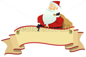 Santa's Scroll Banner - Benchart's Shop