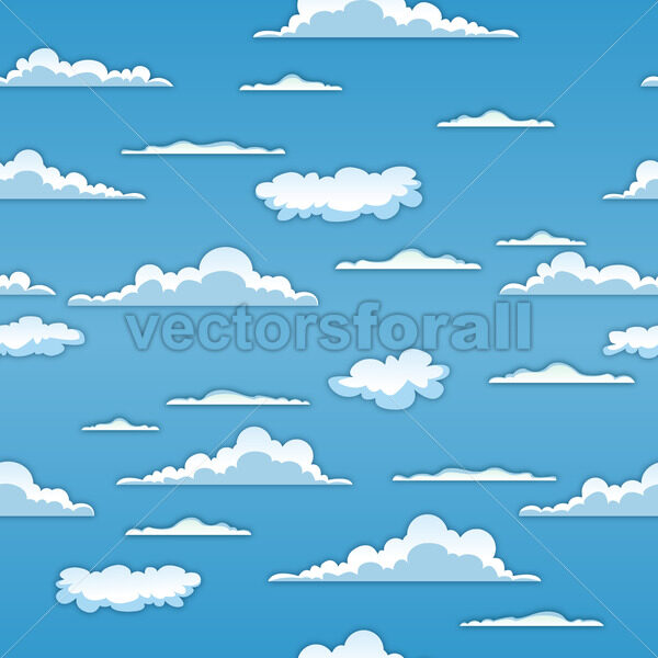 Seamless Clouds Background - Vectorsforall