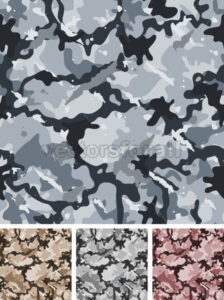 Seamless Complexe Military Night Camouflage - Vectorsforall