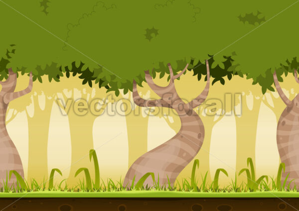 Seamless Forest Landscape - Vectorsforall