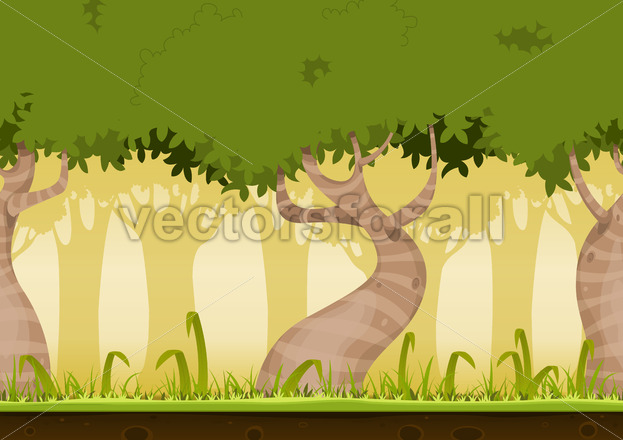 Seamless Forest Landscape - Vectorsforall