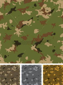 Seamless Military Camouflage Set - Vectorsforall