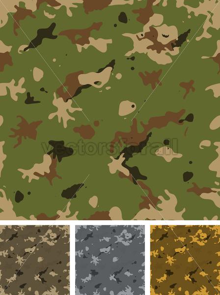 Seamless Military Camouflage Set - Vectorsforall
