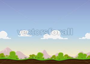 Seamless Spring Landscape - Vectorsforall