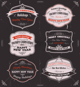 Season's Greetings Banners, Badges And Frames - Vectorsforall