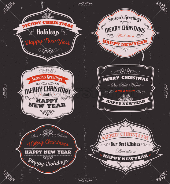Season's Greetings Banners, Badges And Frames - Vectorsforall