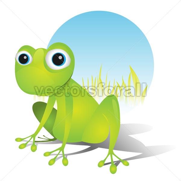 Simple Cute Frog - Vectorsforall