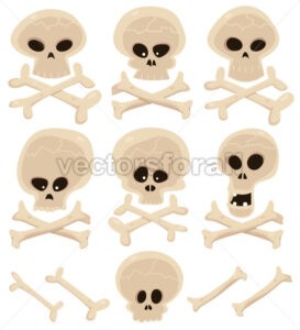 Skull And Cross Bones Set - Benchart's Shop