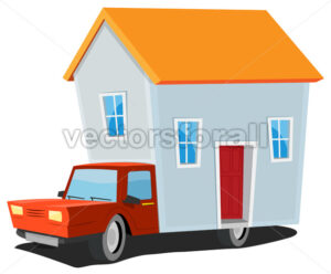 Small House On Delivery Truck - Vectorsforall
