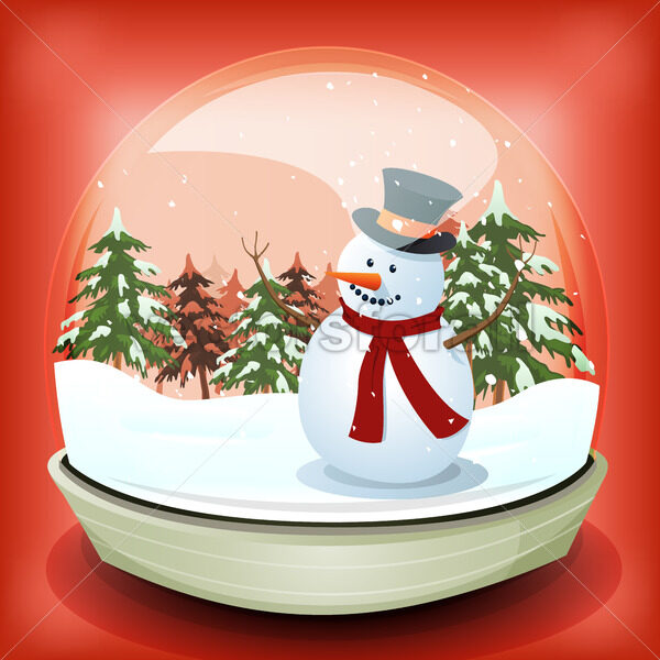Snowman In Winter Snowball - Vectorsforall