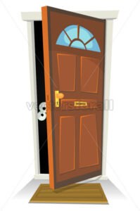 Something Or Someone Behind The Door - Vectorsforall
