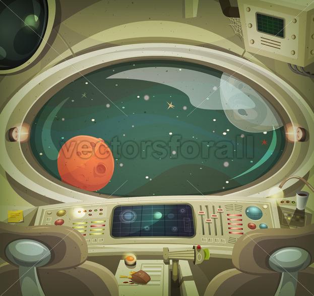 Spaceship Interior - Vectorsforall