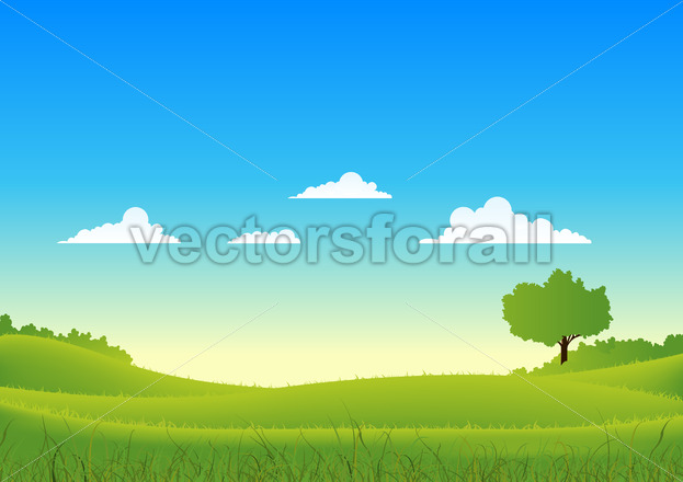 Spring And Summer Country Landscape - Benchart's Shop