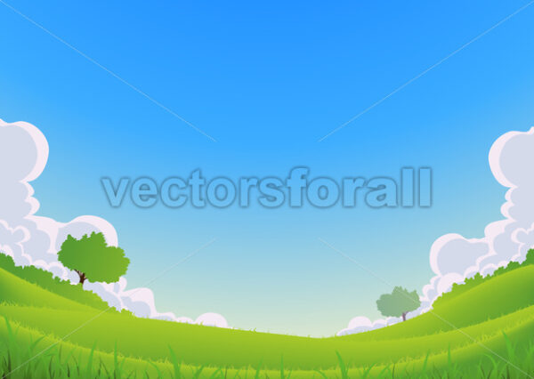 Spring And Summer Landscape – Wide Angle - Vectorsforall