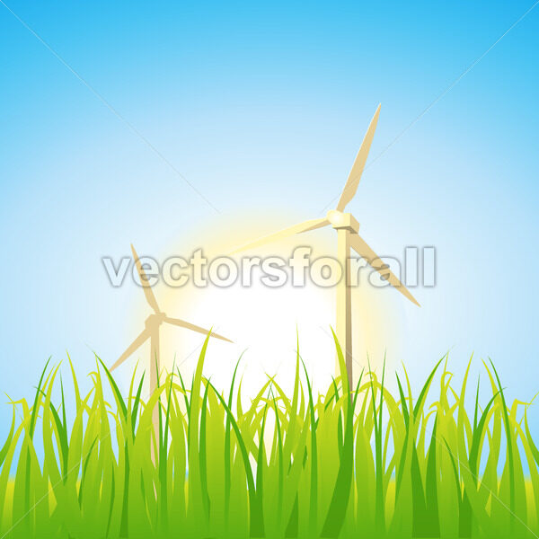 Spring And Summer Windmills - Vectorsforall