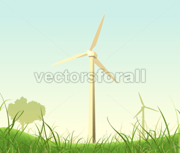 Spring And Summer Windmills Poster - Vectorsforall