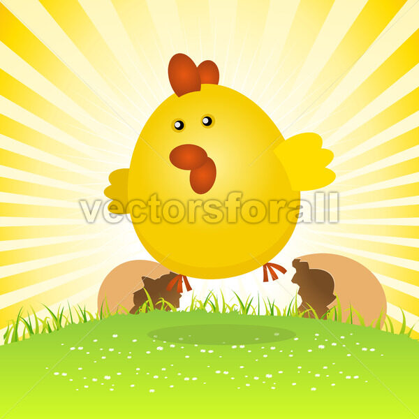 Spring Easter Chick Birth - Vectorsforall