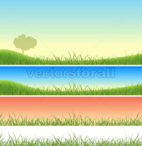 Spring Green Grass Landscape Set - Benchart's Shop