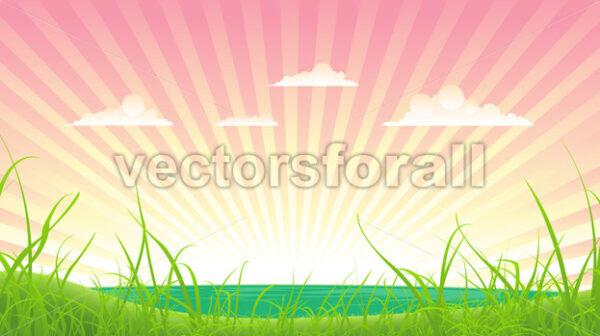 Spring Or Summer Landscape - Vectorsforall