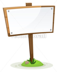 Spring Or Summer Rural Wood Sign - Vectorsforall