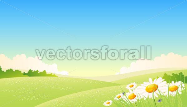 Spring Or Summer Seasons Poster - Vectorsforall