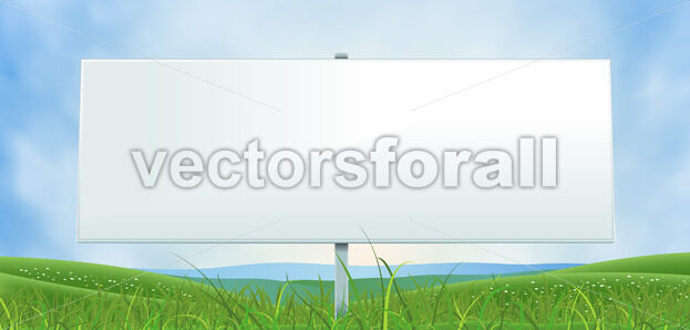 Spring Or Summer Wide White Billboard - Vectorsforall