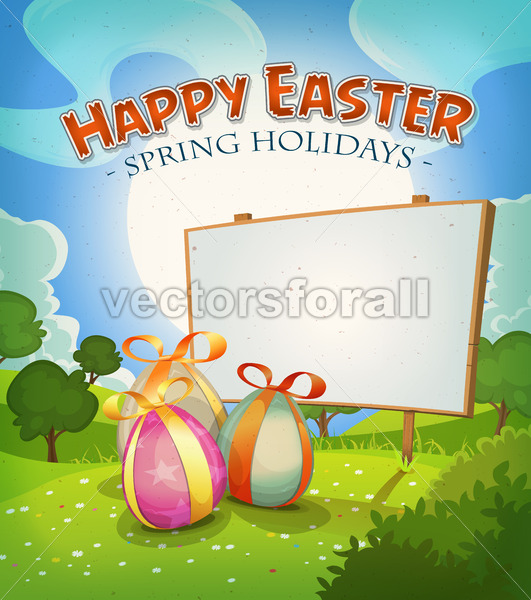 Spring Time And Easter Holidays - Vectorsforall