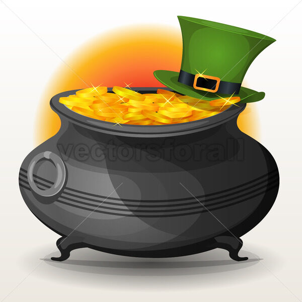 St. Patrick's Day Cauldron - Vectorsforall