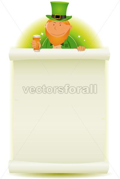St. Patrick's Day Parchment Background - Vectorsforall