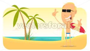 Summer Beach Vacations Banner - Benchart's Shop