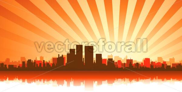 Summer Cityscape Background - Vectorsforall