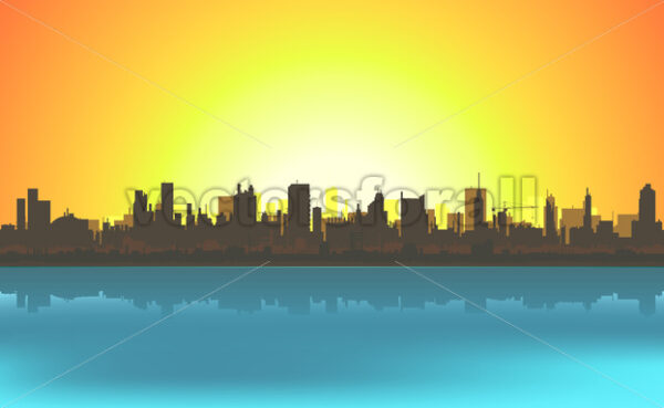 Summer Cityscape Background - Vectorsforall
