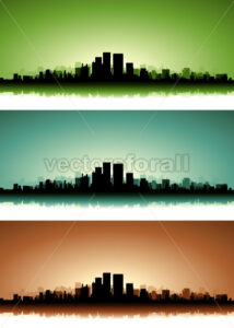Summer Cityscape Banner Set - Benchart's Shop