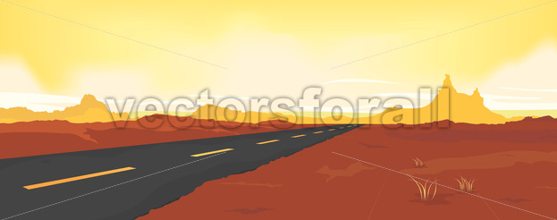 Summer Desert Road - Benchart's Shop