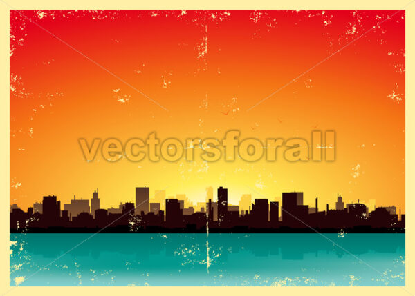 Summer Grunge Urban Landscape - Vectorsforall