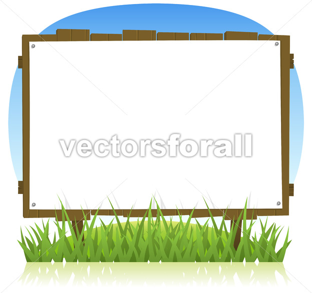 Summer Or Spring Country Wood Billboard - Vectorsforall