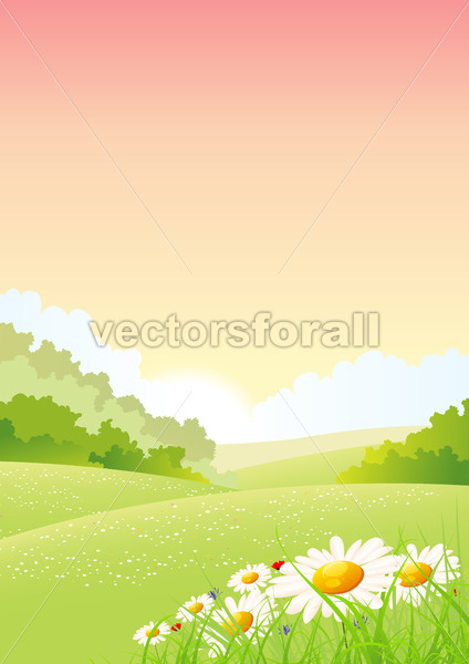 Summer Or Spring Morning Seasons Poster - Benchart's Shop