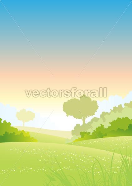 Summer Or Spring Morning Seasons Poster - Benchart's Shop