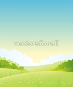 Summer Or Spring Nature Landscape - Benchart's Shop