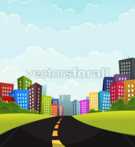 Summer Or Spring Town - Vectorsforall
